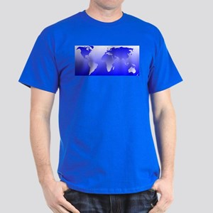 world dark blue: Dark T-Shirt
