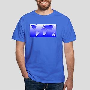world dark blue: Dark T-Shirt