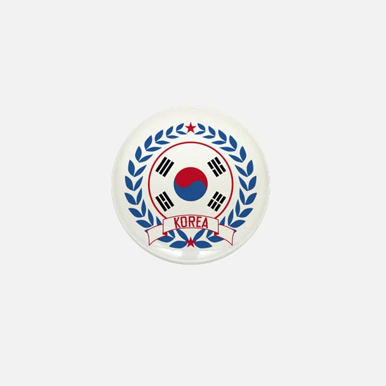 Korea Wreath Mini Button