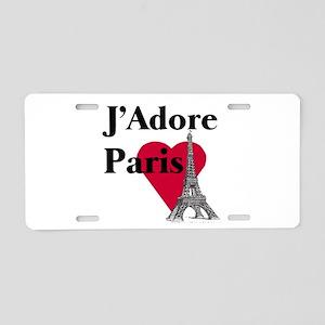 I LOVE PARIS Aluminum License Plate