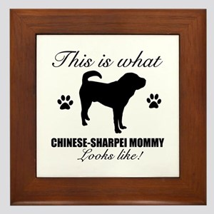 Chinese Sharpei Mommy Framed Tile