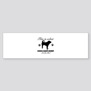 Chinese Sharpei Mommy Sticker (Bumper)