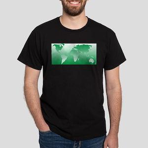 world dark green: Dark T-Shirt