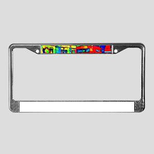 trippy London traffic License Plate Frame