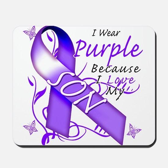 I Wear Purple I Love My Son Mousepad