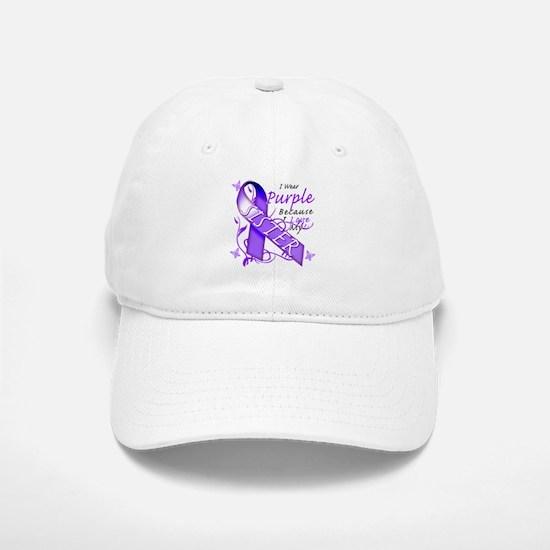 I Wear Purple I Love My Siste Baseball Baseball Cap