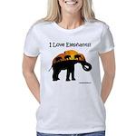 I Love Elephants Women's Classic T-Shirt