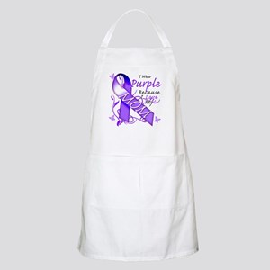 I Wear Purple I Love My Mom Apron