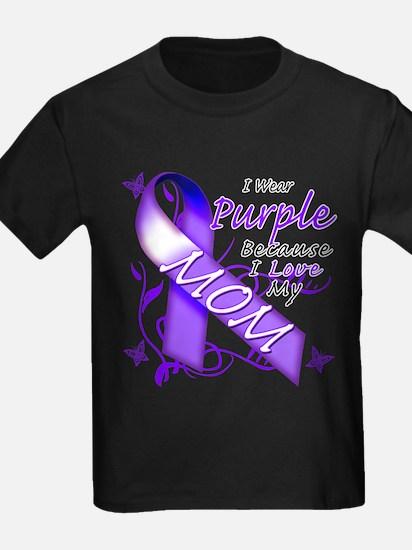 I Wear Purple I Love My Mom T