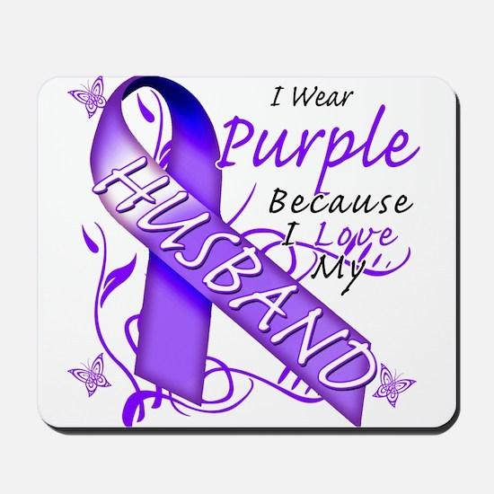 I Wear Purple I Love My Husba Mousepad