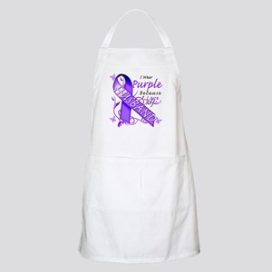 I Wear Purple I Love My Husba Apron
