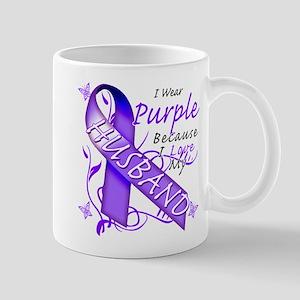 I Wear Purple I Love My Husba Mug