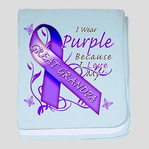 I Wear Purple I Love My Great baby blanket