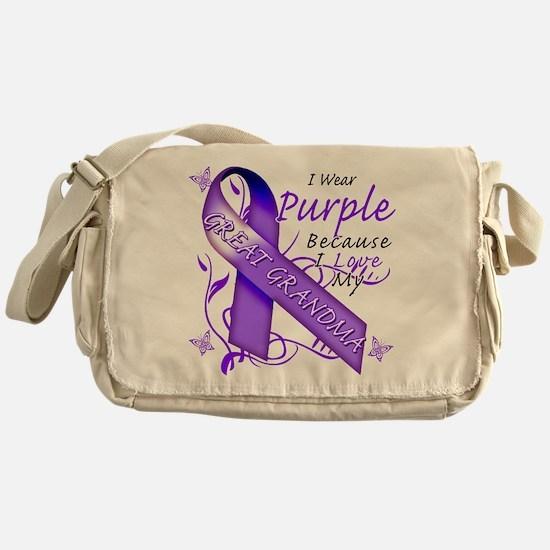I Wear Purple I Love My Great Messenger Bag