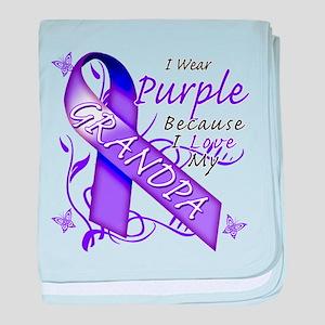 I Wear Purple I Love My Grand baby blanket
