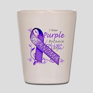 I Wear Purple I Love My Grand Shot Glass