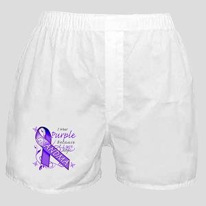 I Wear Purple I Love My Grand Boxer Shorts