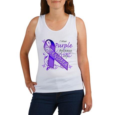 I Wear Purple I Love My Grand Women's Tank Top