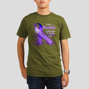 I Wear Purple I Love My Grand Organic Men's T-Shir