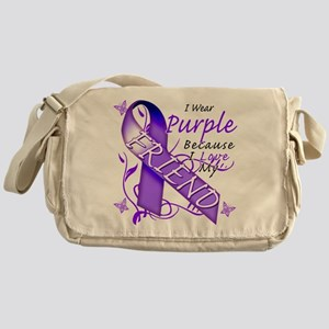 I Wear Purple I Love My Frien Messenger Bag