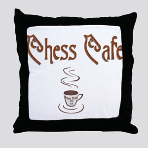 Chess Cafe Throw Pillow