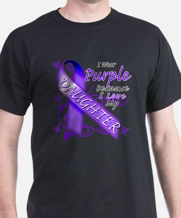 I Wear Purple I Love My Daugh T-Shirt