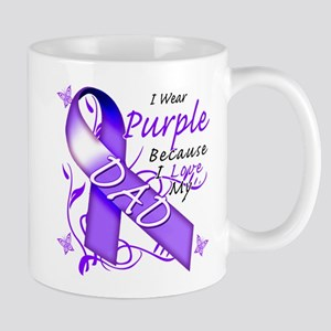I Wear Purple I Love My Dad Mug