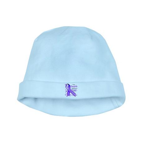 I Wear Purple I Love My Broth baby hat