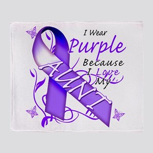 I Wear Purple I Love My Aunt Throw Blanket