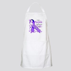I Wear Purple I Love My Aunt Apron