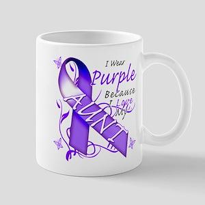 I Wear Purple I Love My Aunt Mug