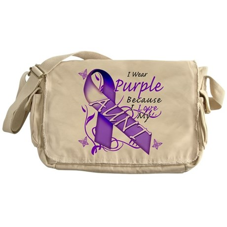 I Wear Purple I Love My Aunt Messenger Bag