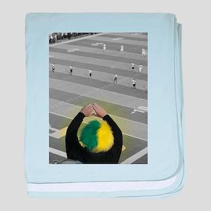 Oregon Ducks Fan baby blanket