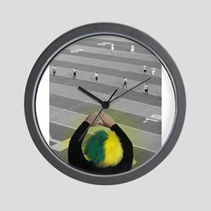 Oregon Ducks Fan Wall Clock
