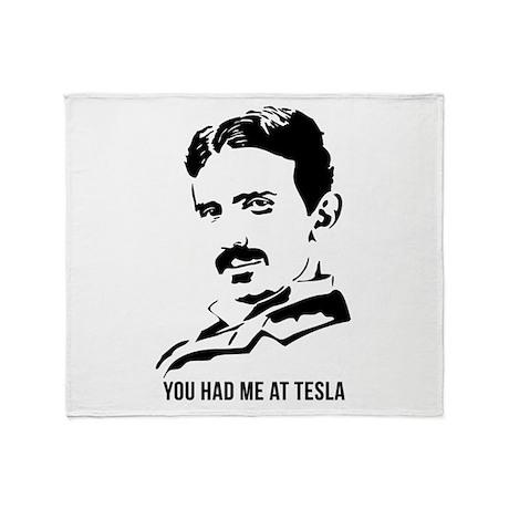 You had me at Tesla Throw Blanket