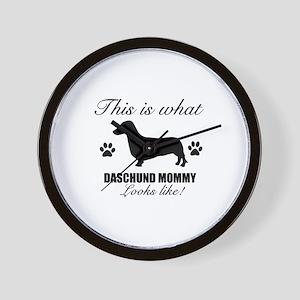 Daschund Mommy Wall Clock