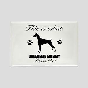Doberman Mommy Rectangle Magnet