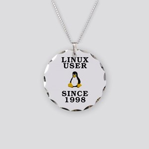 Linux user since 1998 - Necklace Circle Charm