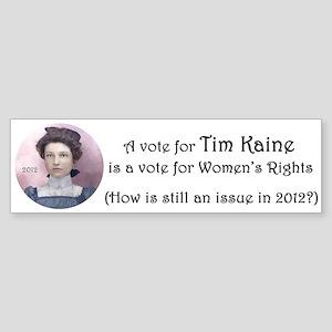 Tim Kaine for Women's Rights Sticker (Bumper)