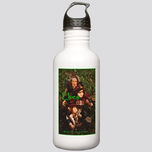Elves: bright green text Stainless Water Bottle 1.