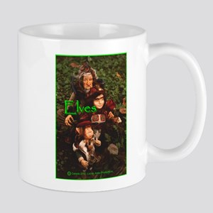 Elves: bright green text Mug
