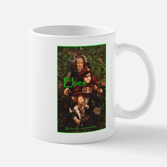 Elves: bright green text Mug