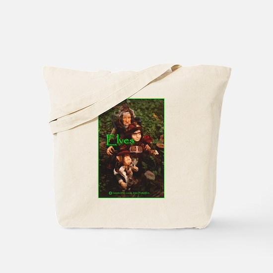 Elves: bright green text Tote Bag