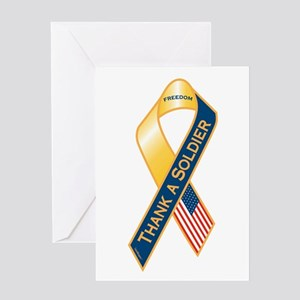 Thank A Soldier Ribbon Greeting Card