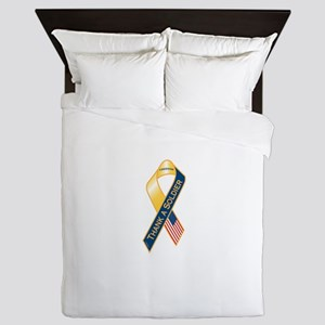 Thank A Soldier Ribbon Queen Duvet