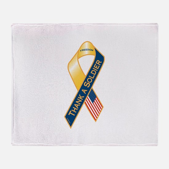 Thank A Soldier Ribbon Throw Blanket