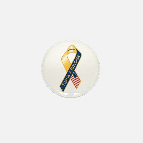 Thank A Soldier Ribbon Mini Button