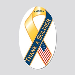 Thank A Soldier Ribbon 20x12 Oval Wall Decal