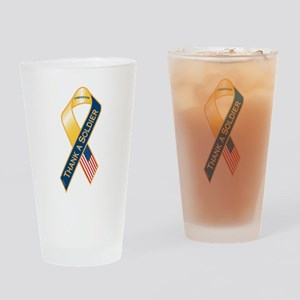 Thank A Soldier Ribbon Drinking Glass