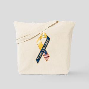Thank A Soldier Ribbon Tote Bag